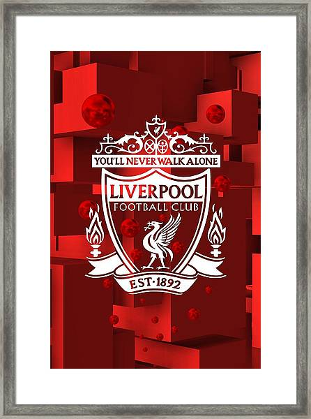 Tribute To Liverpool 3 Framed Print