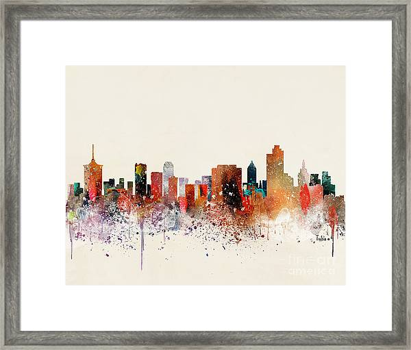 Tulsa Skyline Framed Print by Bri Buckley