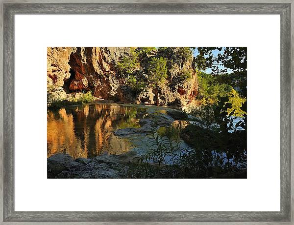 Turner Falls Area Framed Print by Iris Greenwell