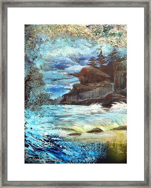 Twilight Cliffs Framed Print