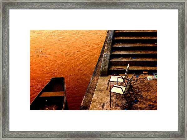 Two Chairs By The Stairs Framed Print