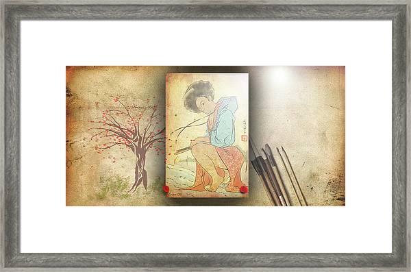 Ukyo-e Soul Framed Print
