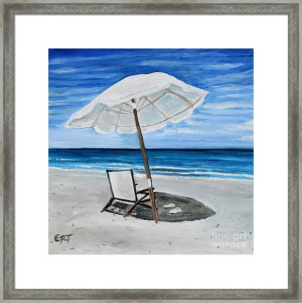 Under The Umbrella Framed Print