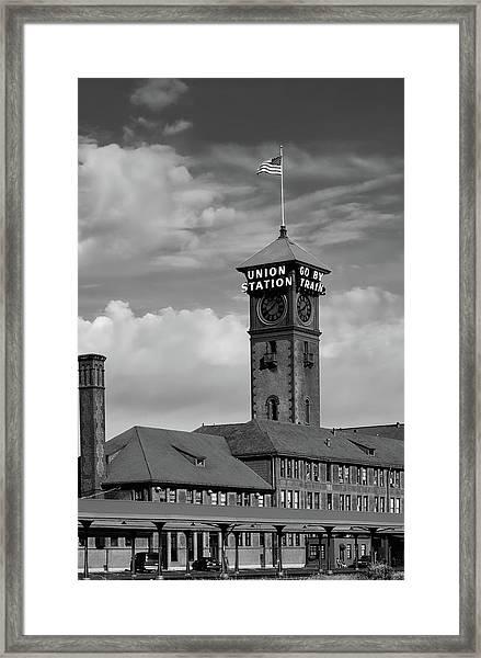 Union Station - Portland Oregon Framed Print
