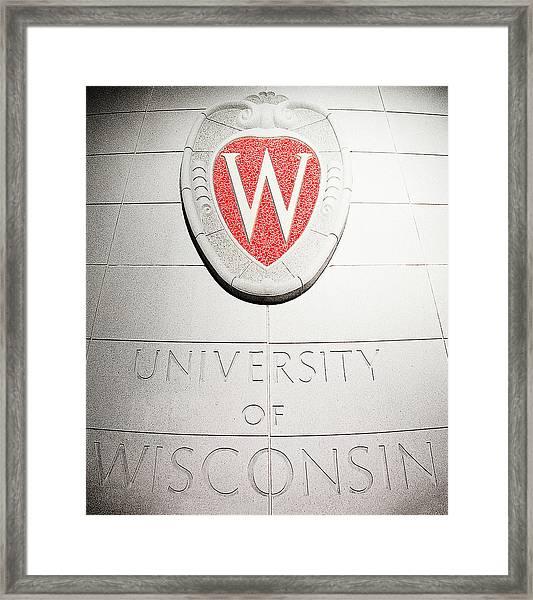 Uw Crest Framed Print