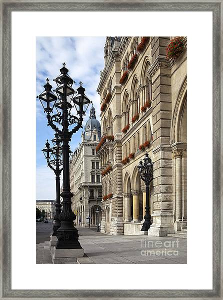 Vienna City Hall Framed Print by Andre Goncalves
