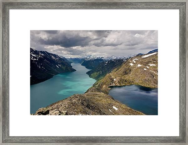 View From Besseggen Ridge Framed Print