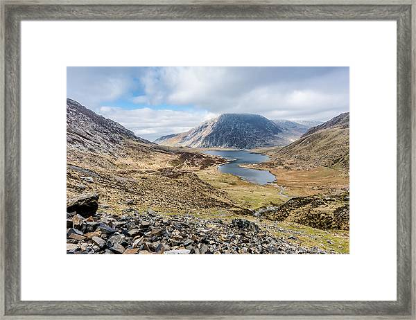 Framed Print featuring the photograph View From Glyder Fawr by Nick Bywater