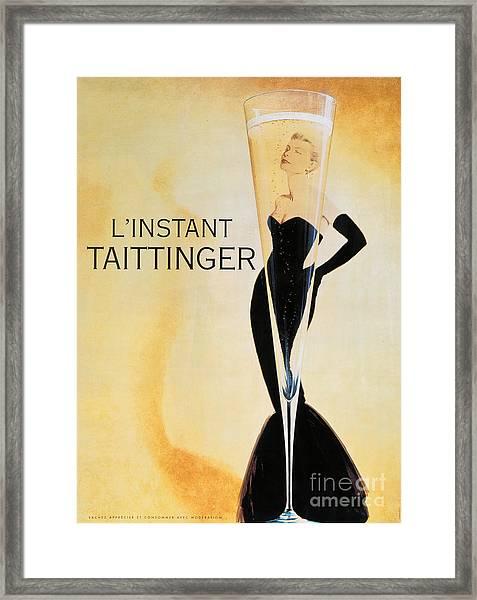 Vintage French Champagne Framed Print
