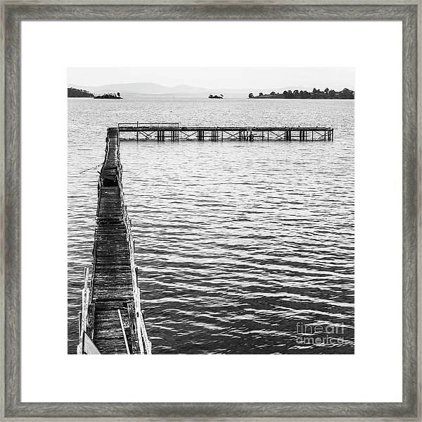 Vintage Marine Scene Framed Print