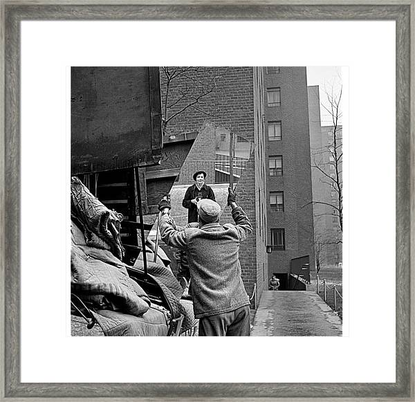 Vivian Maier Self Portrait Probably Taken In Chicago Illinois 1955 Framed Print