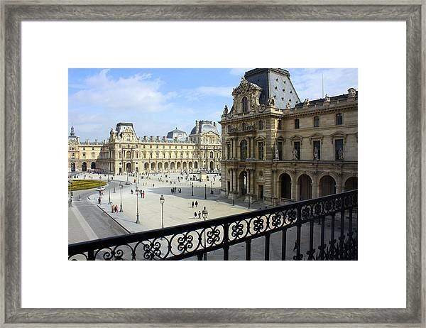 Walking At The Louvre Framed Print