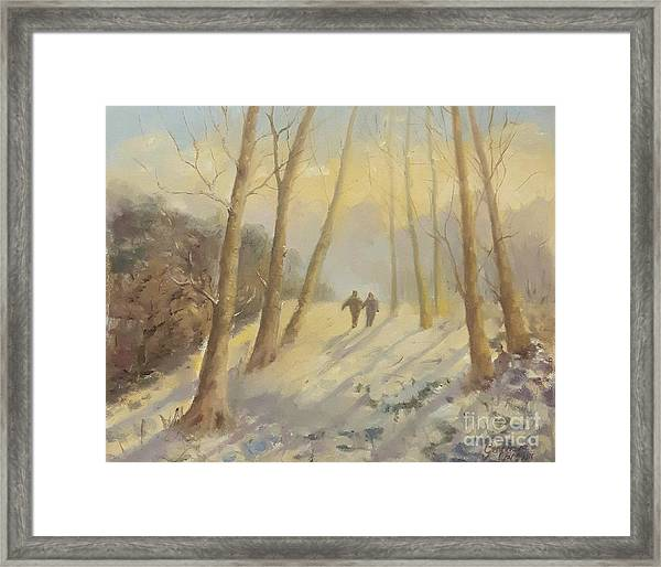 Framed Print featuring the painting Walking In Sunshine by Genevieve Brown