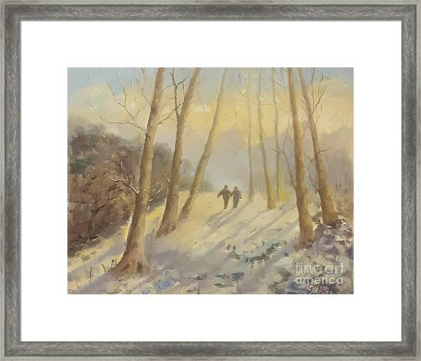 Walking In Sunshine Framed Print