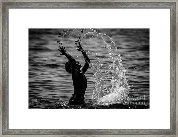 Water And Stones 3 Framed Print