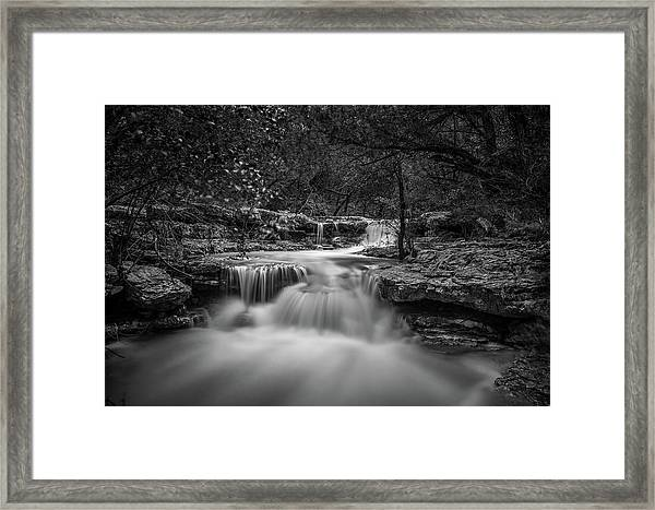 Waterfall In Austin Texas Framed Print