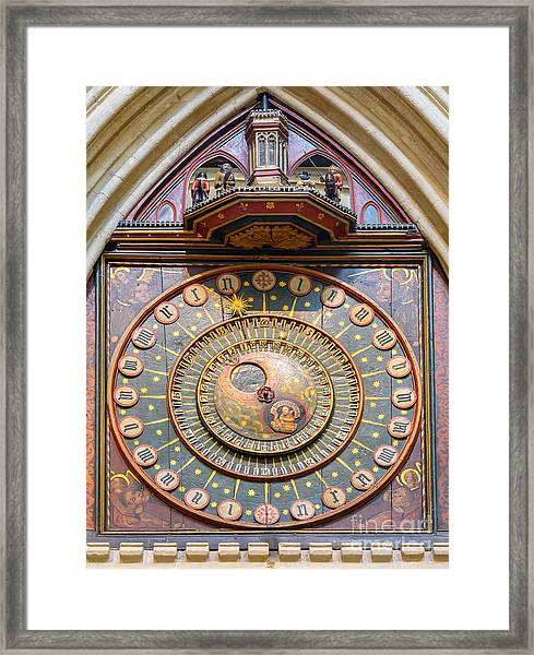 Wells Cathedral Clock Framed Print