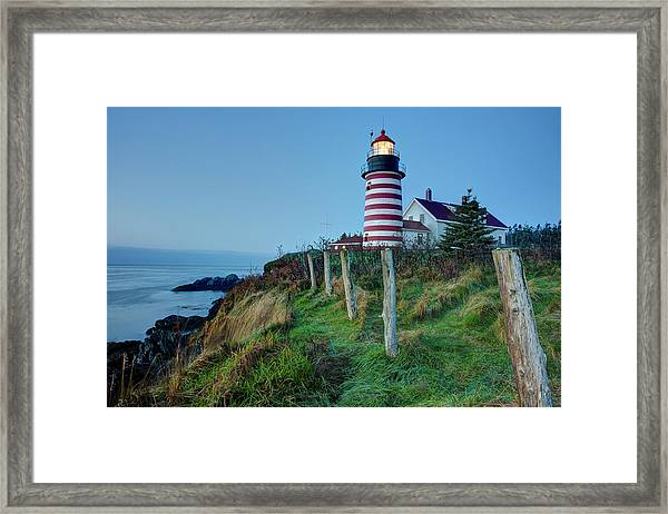West Quoddy Head Light Framed Print