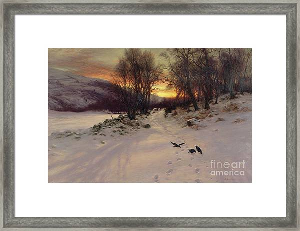 When The West With Evening Glows Framed Print