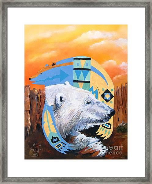 White Bear Goes Southwest Framed Print
