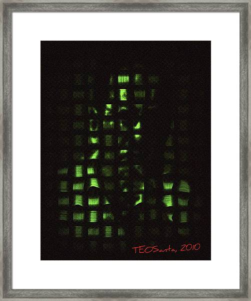 Who Am I   Series 3 Framed Print by Teodoro De La Santa