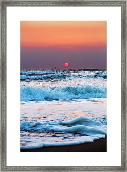 Widemouth Sunset, Cornwall Framed Print