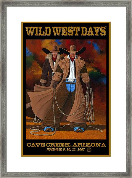 Wild West Days Poster/print  Framed Print