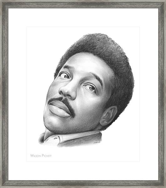 Wilson Pickett Framed Print