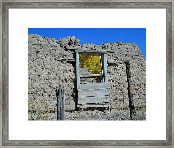 Framed Print featuring the photograph Window In Autumn by Joseph R Luciano