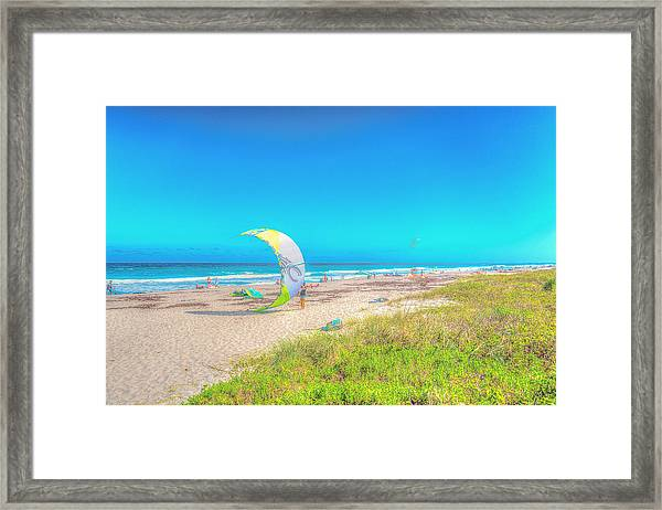 Windsurf Beach Framed Print