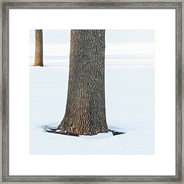 Winter Scene - Abstract Framed Print