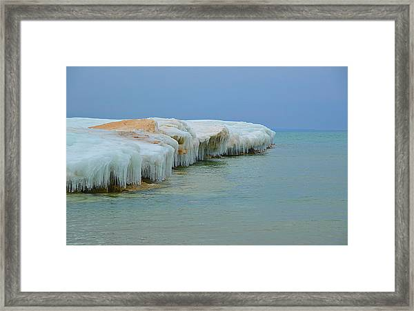 Winter Sculpting Framed Print