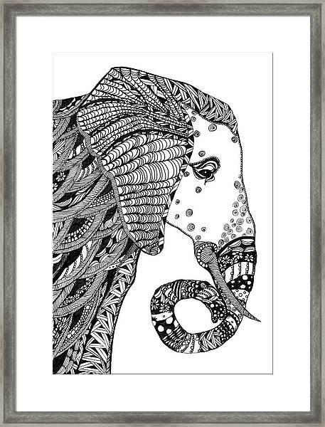 Wise Elephant Framed Print