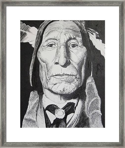 Wolf Robe Framed Print