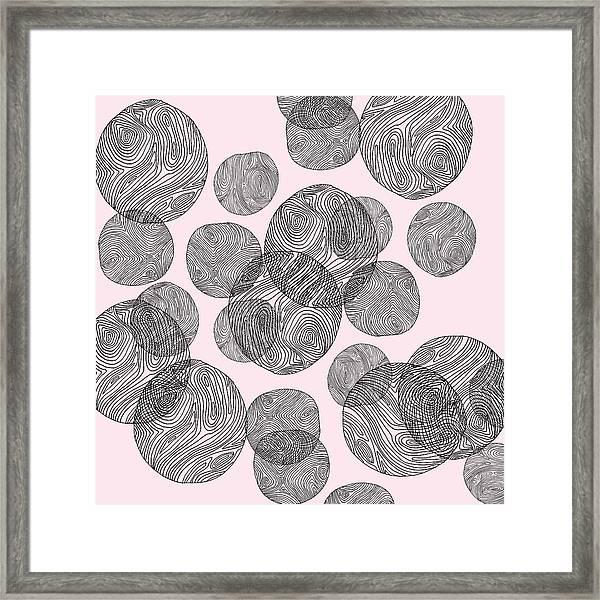 Woodprint Pattern Framed Print