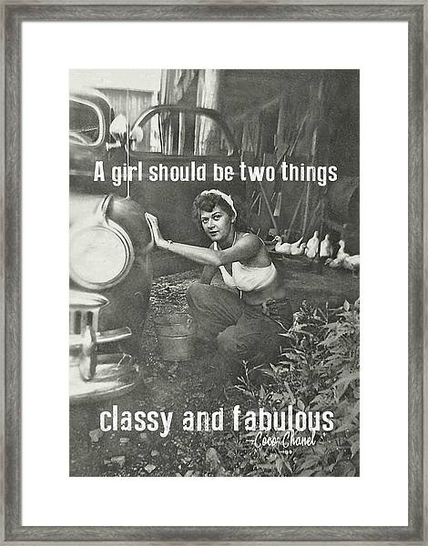 Working At The Carwash Quote Framed Print