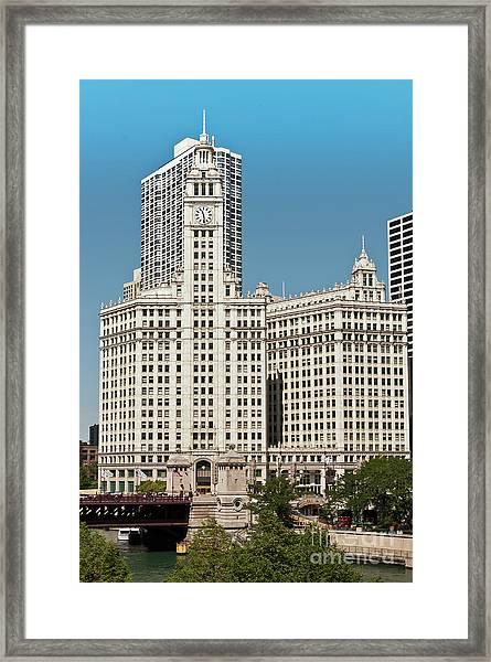 Wrigley Building Framed Print