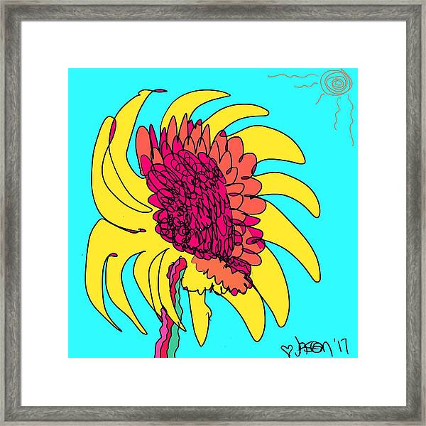 Yes. This Is A Flower, Child Framed Print