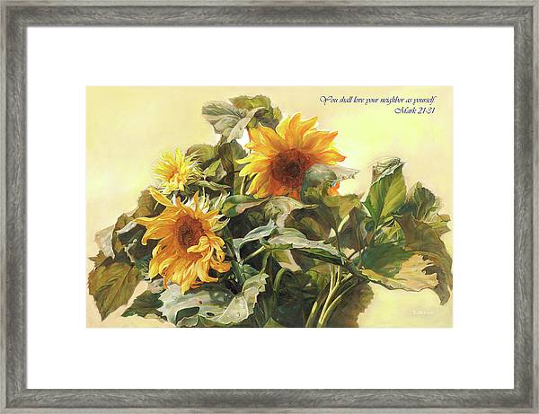 You Shall Love Your Neighbor As Yourself  Framed Print