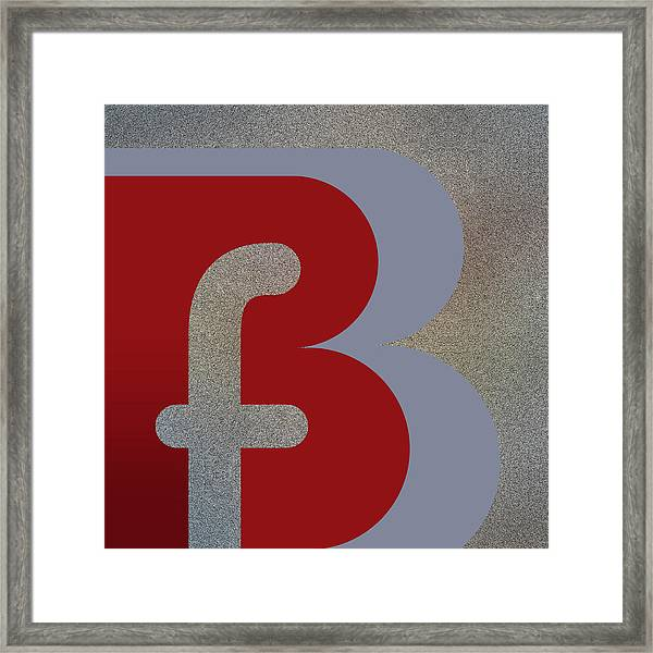 Your Name - B F Or F B Monogram Framed Print