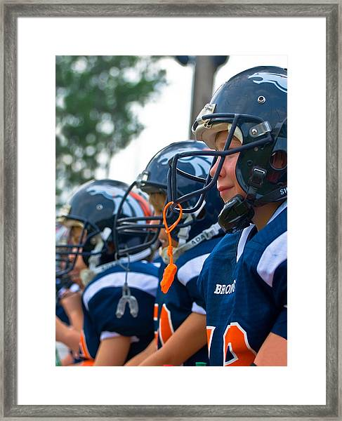 Youth Football Framed Print
