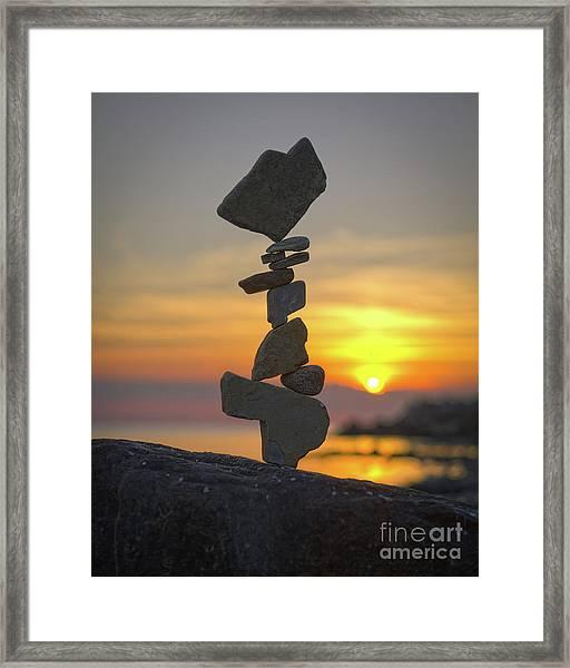 Zen. Framed Print
