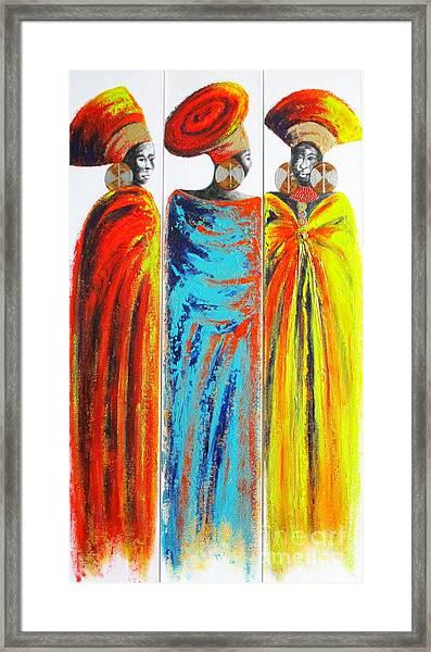 Zulu Ladies 2 Framed Print