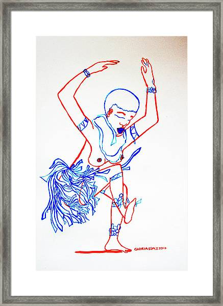 Zulu Traditional Dance South Africa Framed Print
