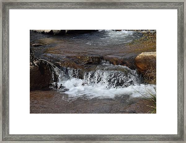 Waterfall Westcliffe Co Framed Print
