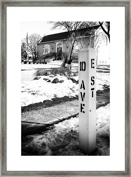 10 Ave And E St Belmar New Jersey Framed Print