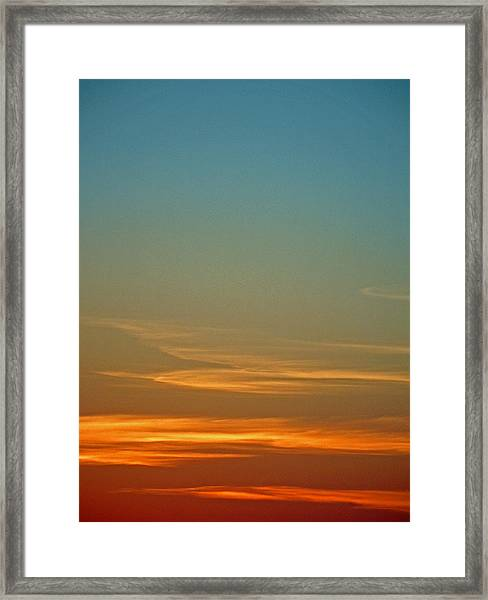Huron Skies Framed Print
