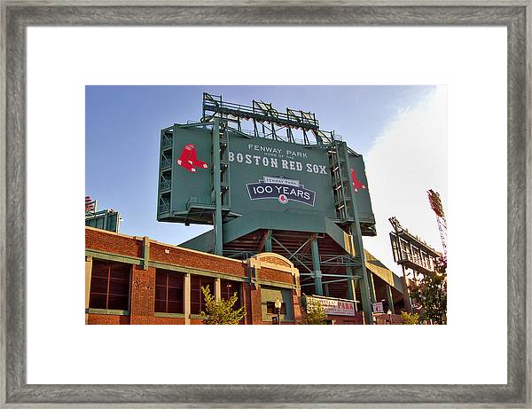 100 Years At Fenway Framed Print