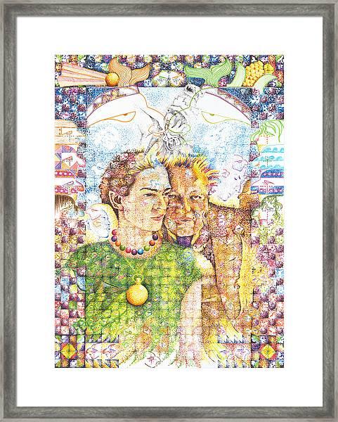 10000 Caras Son Uno Framed Print