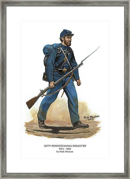 107th Pennsylvania Infantry Regiment - Fall Of 1862 Framed Print by Mark Maritato